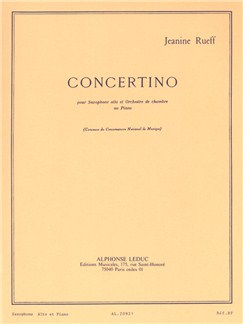 Jeanine Rueff: Concertino (Alto Saxophone And Piano) Books |