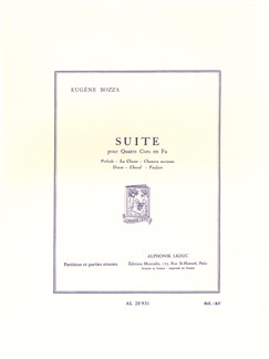 Eugène Bozza: Suite For Four Horns (Score/Parts) Books | French Horn (Quartet)