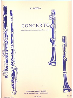 Eugène Bozza: Concerto For Clarinet And Chamber Orchestra (Clarinet/Piano) Books | Clarinet, Piano Accompaniment