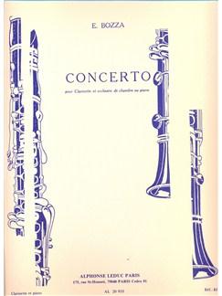 Eugène Bozza: Concerto For Clarinet And Chamber Orchestra (Clarinet/Piano) Bog | Klarinet, Klaverakkompagnement