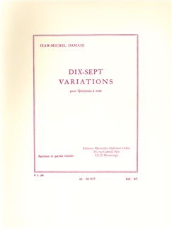 Jean-Michel Damase: 17 Variations For Wind Quintet (Score/Parts) Books | Wind Quintet