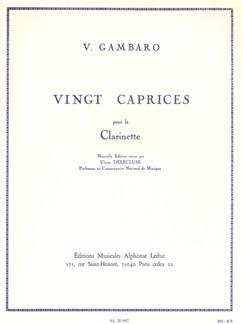 Vincenzo Gambaro: Twenty Caprices (Clarinet) Books | Clarinet