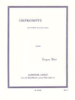 Jacques Ibert: Impromptu (Trumpet/Piano) Books | Trumpet, Piano Accompaniment