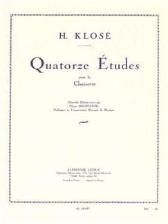 Hyacinthe Klosé: 14 Etudes - New Edition (Clarinet) (Delécluse) Bog | Klarinet