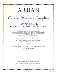 Célèbre méthode Complète de Trompette cornet à pistons et saxCor vol 3 ARBAN Livre | Trompette, Piano, Partitions