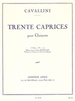 Ernesto Cavallini: 30 Caprices Vol.1 (Clarinet) Books | Clarinet