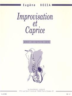 Bozza: Improvisation et caprice saxophone seul Livre | Saxophone