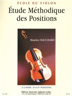 Hauchard: étude des positions volume 2 violon Livre | Violon