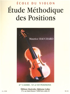 Maurice Hauchard: Methodical Study of Positions (Volume 4) pour Violon Livre | Violon