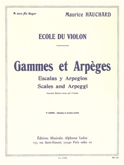 Hauchard: Gammes Et Arpèges Volume 2 Violon Books | Violin