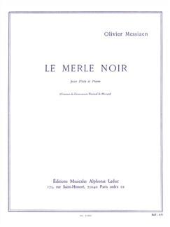 Olivier Messiaen: Le Merle Noir Books | Flute, Piano Accompaniment