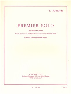Eugène Bourdeau: Premier Solo (Bassoon And Piano) Books | Bassoon, Piano Accompaniment
