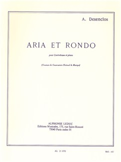 Alfred Desenclos: Aria And Rondo For Double Bass And Piano Libro | Contrabajo, Acompañamiento de Piano