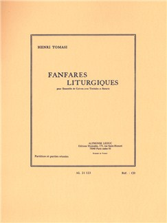 Henri Tomasi: Fanfares Liturgiques For Brass Ensemble, Timpani And Drums Books | Bass Trombone