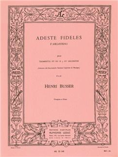 Henri Büsser: Adeste Fideles Op.83 (Trumpet/Piano) Buch | Trompete, Klavierbegleitung
