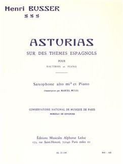 Henri Busser: Asturias Sur Des Thèmes Espagnols Op.84 (Alto Saxophone/Piano) (Mule) Books | Alto Saxophone, Piano Accompaniment