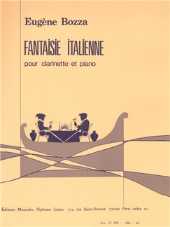 Fantaisie italienne pour Clarinette et Piano Livre | Clarinette, Piano, Partitions