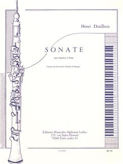 Henri Dutilleux: Sonata For Oboe And Piano Books | Oboe, Piano Accompaniment