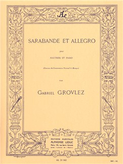 Gabriel Grovlez: Sarabande Et Allegro For Oboe And Piano Books | Oboe, Piano Accompaniment