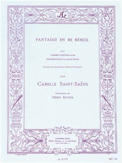 Camille Saint-Saëns: Fantaisie En Mi Bemol Livre | Trompette, Accompagnement Piano