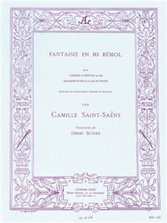 Camille Saint-Saëns Fantaisie In E Flat (Trumpet/Piano) (Büsser) Books | Trumpet, Piano Accompaniment