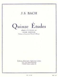 J.S. Bach: 15 Études For Clarinet (Delécluse) Books | Clarinet