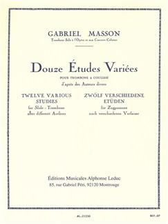 Gabriel Masson: 12 Études Variées (Trombone Solo) Books | Trombone