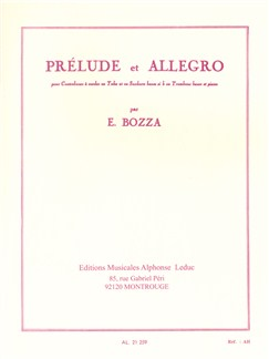 Eugène Bozza: Prélude And Allegro Books | Trombone