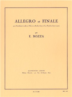 Eugène Bozza: Allegro and Finale, for Double Bass, Tuba, Bass Saxhorn or Bass Trombone and Piano Books | Bass Trombone, Piano Accompaniment