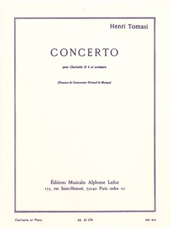 Henri Tomasi: Concerto For Clarinet And Orchestra (Clarinet/Piano) Books | Clarinet, Piano Accompaniment
