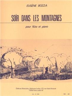 Bozza: Soir Dans Les Montagnes Flute Traversière Et Piano Books | Flute