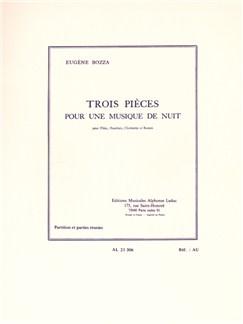 Eugène Bozza: Trois Pièces Pour Une Musique De Nuit (Flûte/Hautbois/Clarinette/Basson) Livre | Flûte Traversière/Hautbois/Clarinette/Basson
