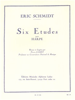 Eric Schmidt: Six Etudes For Harp (Jamet) Books | Harp