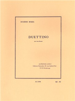 Eugène Bozza: Duettino Books | Bassoon