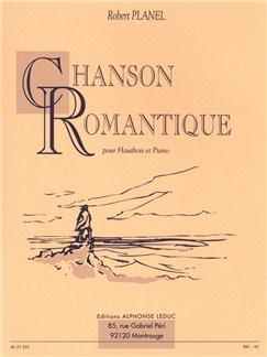 Robert Planel: Chanson Romantique (Oboe/Piano) Libro | Oboe, Acompañamiento de Piano