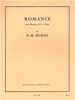 Pierre Max Dubois: Romance For Clarinet And Piano Books | Clarinet, Piano Accompaniment