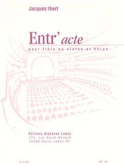 Jacques Ibert: Entr'acte (Flute And Harp) Books | Flute, Harp