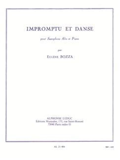 Eugène Bozza: Impromptu Et Danse (Alto Saxophone/Piano) Libro | Saxofón Alto, Acompañamiento de Piano
