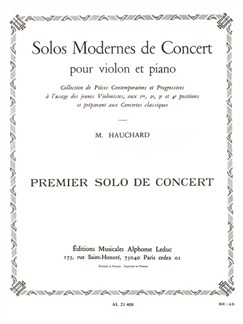 Maurice Hauchard: First Concert Solo (Violin/Piano) Books | Violin