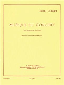 Marius Constant: Musique De Concert (Alto Saxophone/Piano) Books | Alto Saxophone, Piano Accompaniment