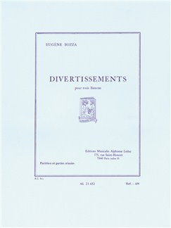 Eugène Bozza: Divertissements For Three Bassoons (Score/Parts) Libro | Fagote(Trío)