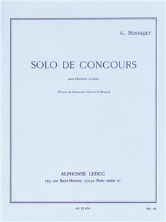 André Messager: Solo De Concours (Clarinet/Piano) Books | Clarinet, Piano Accompaniment