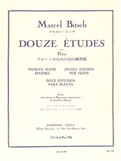 Marcel Bitsch: 12 Etudes (Flute) Bog | Fløjte