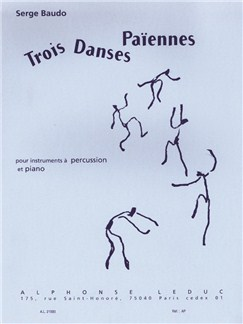 Serge Baudo: Trois Danses Païennes (Drums/Piano) Books | Percussion, Piano Accompaniment