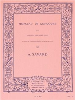 Augustin Savard: Morceau De Concours (Cornet/Piano) Livre | Trompette
