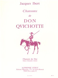 Jacques Ibert: Chansons De Don Quichotte No.3 - Chanson Du Duc Books | Voice, Piano Accompaniment