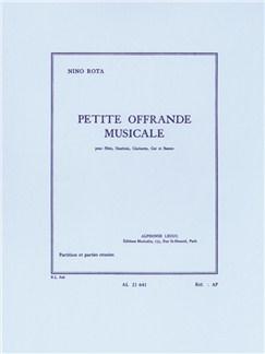 Nino Rota: Petite Offrande Musicale (Wind Quintet) (Score/Parts) Books | Wind Quintet
