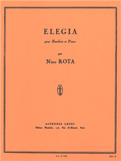 Nino Rota: Elegia For Oboe And Piano Books | Oboe, Piano Accompaniment