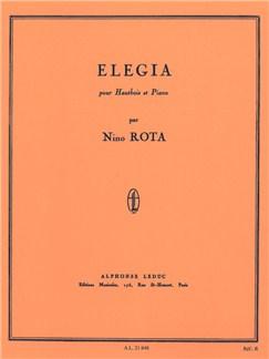 Nino Rota: Elegia (Hautbois/Piano) Livre | Hautbois, Accompagnement Piano