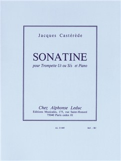 Jacques Castérède: Sonatina For Trumpet And Piano Books | Trumpet, Piano Accompaniment